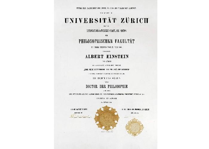 Le diplôme de doctorat qu'Albert Einstein a obtenu... (Photo: AFP)