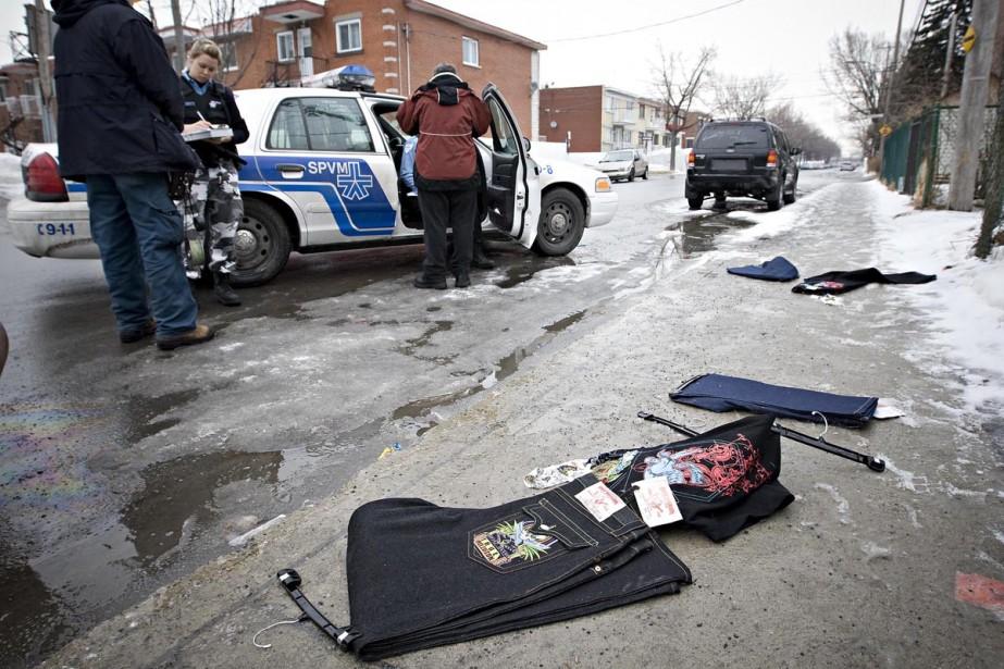 Les voleurs, dans leur fuite, ont perdu une... (Photo: Patrick Sanfaçon, La Presse)