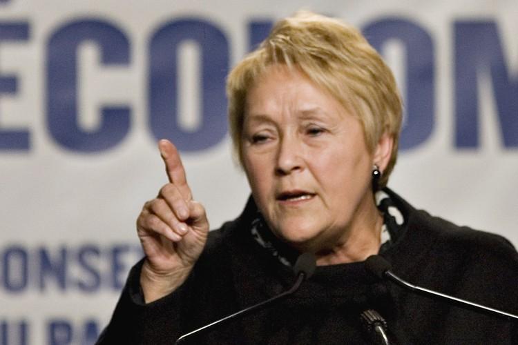 La chef péquiste Pauline Marois a maintenu vendredi que seule une... (Photo: PC)