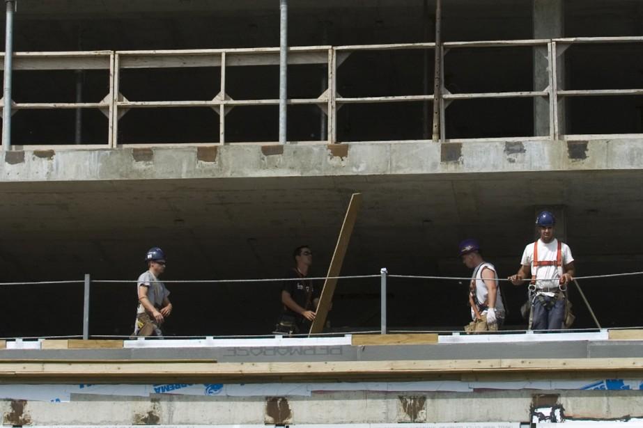 Le chantier de l'îlot Voyageur reprendra vie. Dès... (Photo: Martin Chamberland, La Presse)