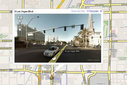 Une vue de Las Vegas par Google Street...