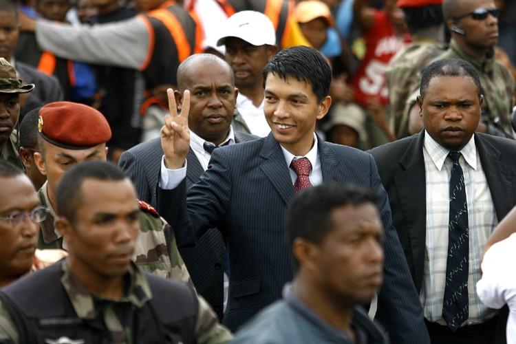 Andry Rajoelina, 34 ans, s'est imposé en très... (Photo: AP)