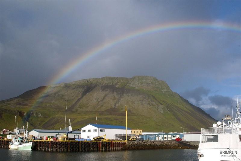 Le village d'Olafsvik en Islande... (AP)