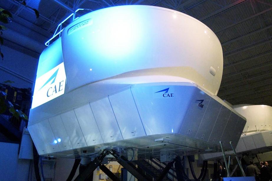 Un simulateur de vol fabriqué par l'entreprise montréalaise... (Photo: PC)