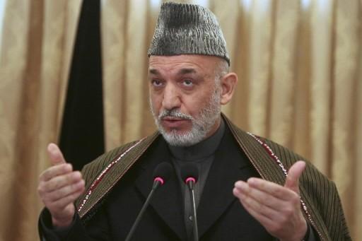 Hamid Karzaï, le président afghan.... (Photo: AP)