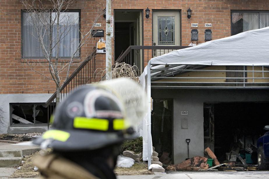 Un incendie mineur a fait deux blessés graves... (Photo: Patrick Sanfaçon, La Presse)
