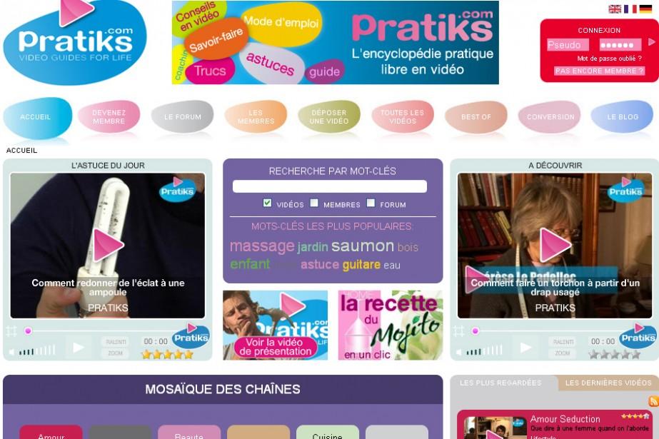 Le site Pratiks.com...