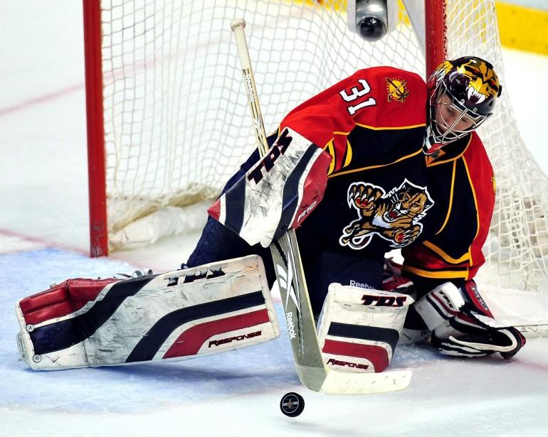 Le gardien de but des Panthers de la... (Photo:AP)