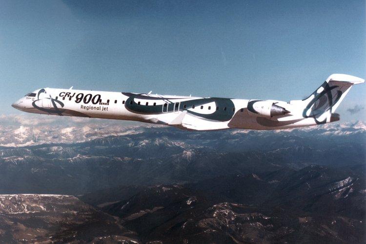 Un appareil CRJ900 de Bombardier.... (Photo: Bombardier)