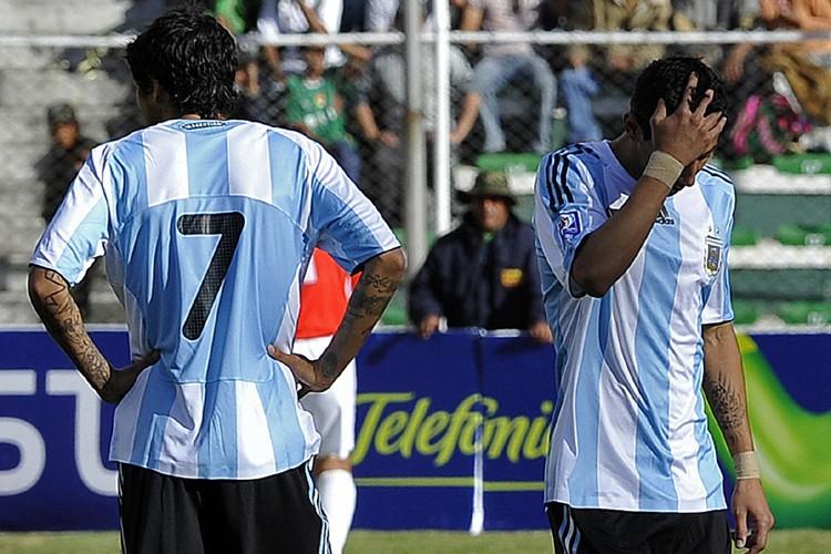 L'Argentine a subi une défaite humiliante de 6-1... (Photo: AFP)