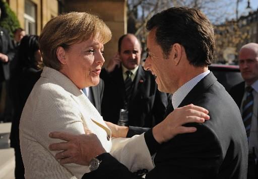 Angela Merkel, chancelière de l'Allemagne, a rencontré Nicolas... (Photo: Reuters)