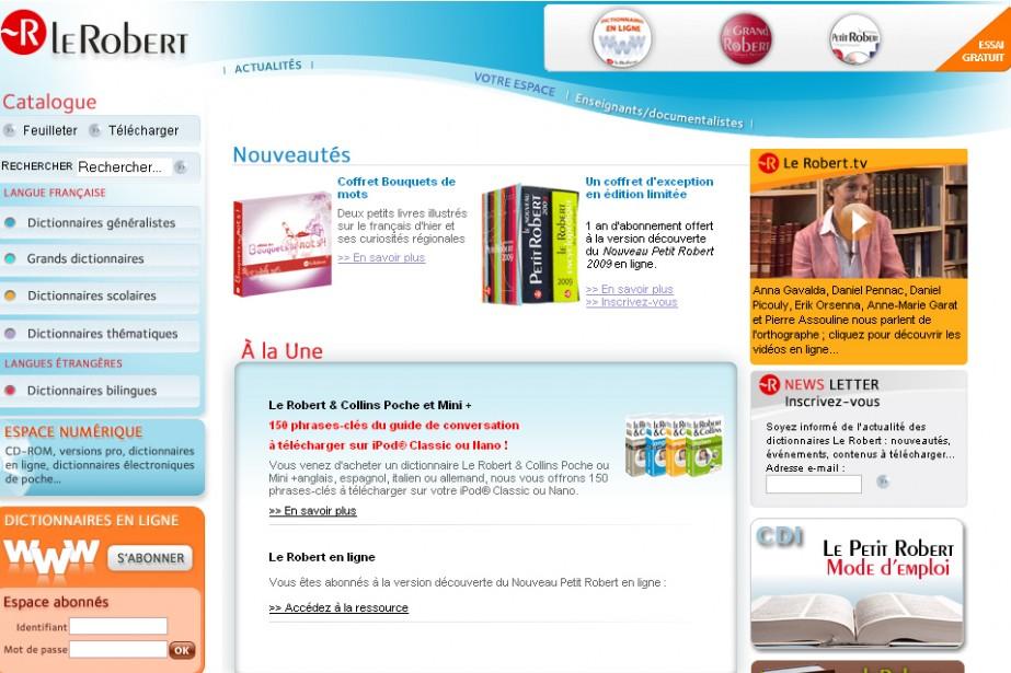 Les éditions françaises Le Robert ont lancé trois de leurs principaux...