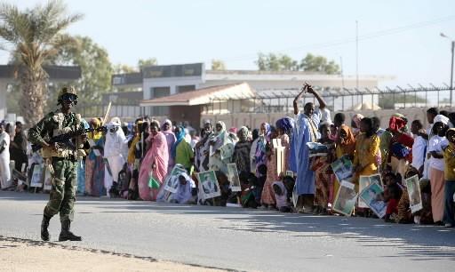 Rassemblement à Nouakchott, capitale de la Mauritanie.... (AFP Photo/ Mahmud Turkia)