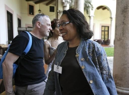 La déléguée Marcia Fudge à La Havane.... (REUTERS/Enrique De La Osa)