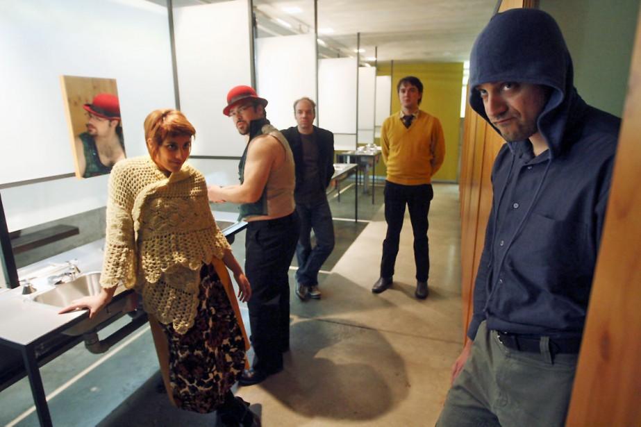 Les comédiens de Maldoror-Paysage: de gauche à droite,... (Photo: Martin Chamberland, La Presse)