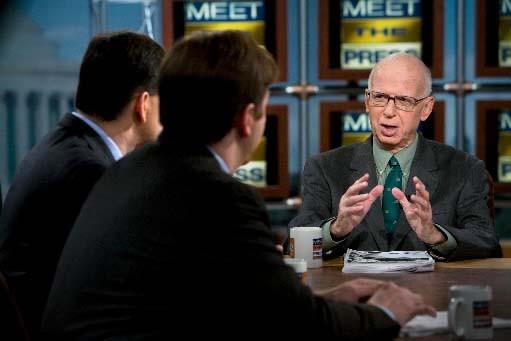 David Broder à l'émission Meet the Press.... (Brendan Smialowski/Getty Images)