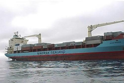 Le porte-conteneurs Maersk Alabama, qui a été enlevé... (Photo: AFP)