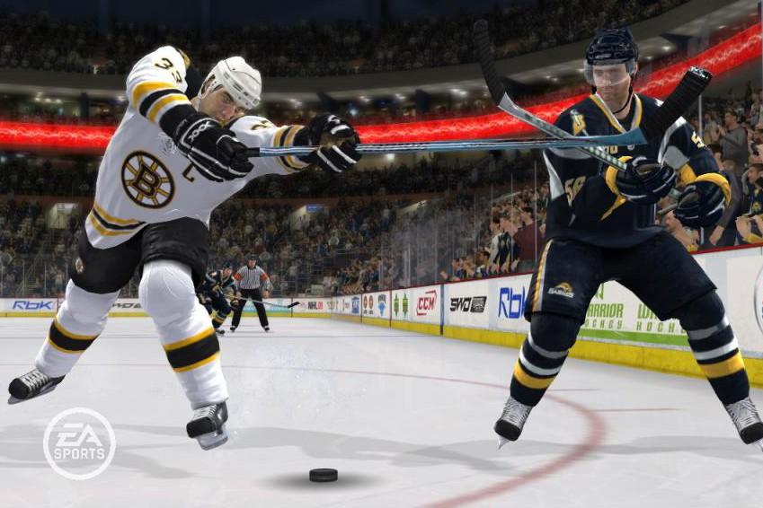 Extrait du jeu NHL 09...
