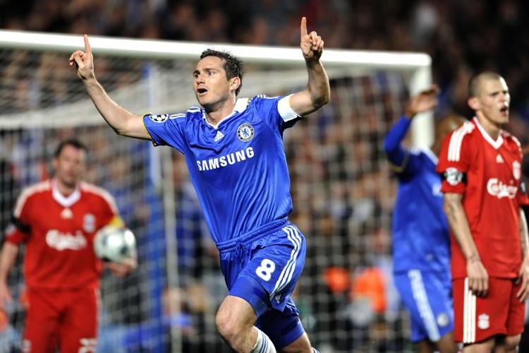 Frank Lampard a marqué deux buts pour Chelsea... (Photo: AFP)