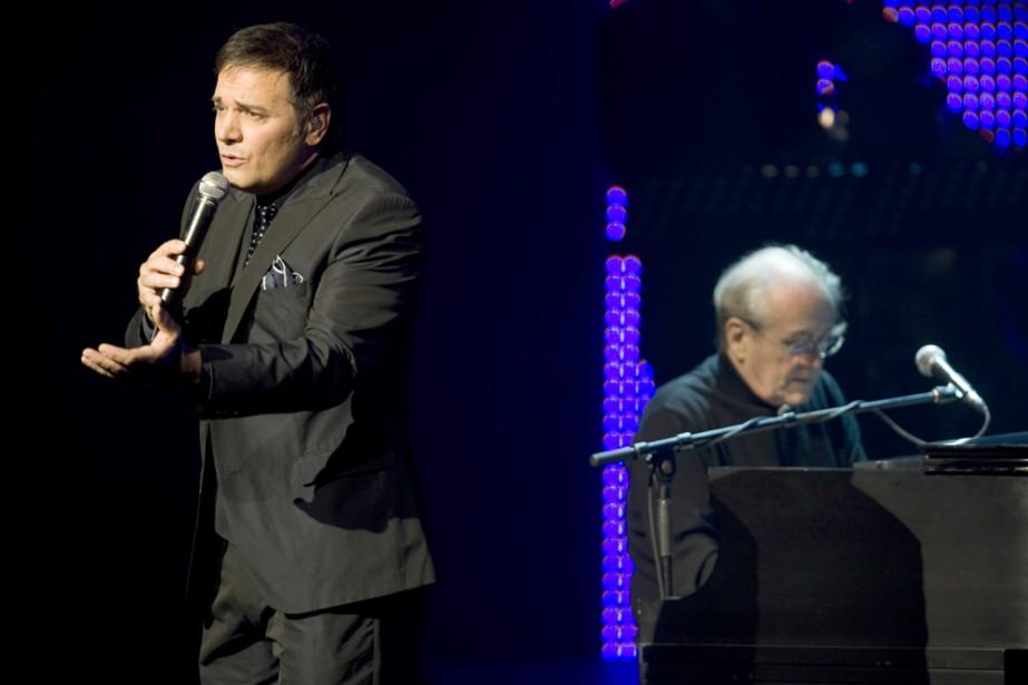 Michel Legrand et Mario Pelchat... (Photo: André Pichette, La Presse)
