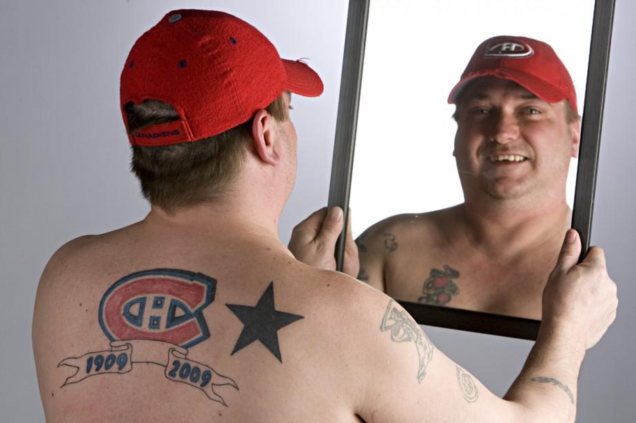 Stéphane St-Onge n'a pas le logo du Canadien... (Photo: François Roy, La Presse)