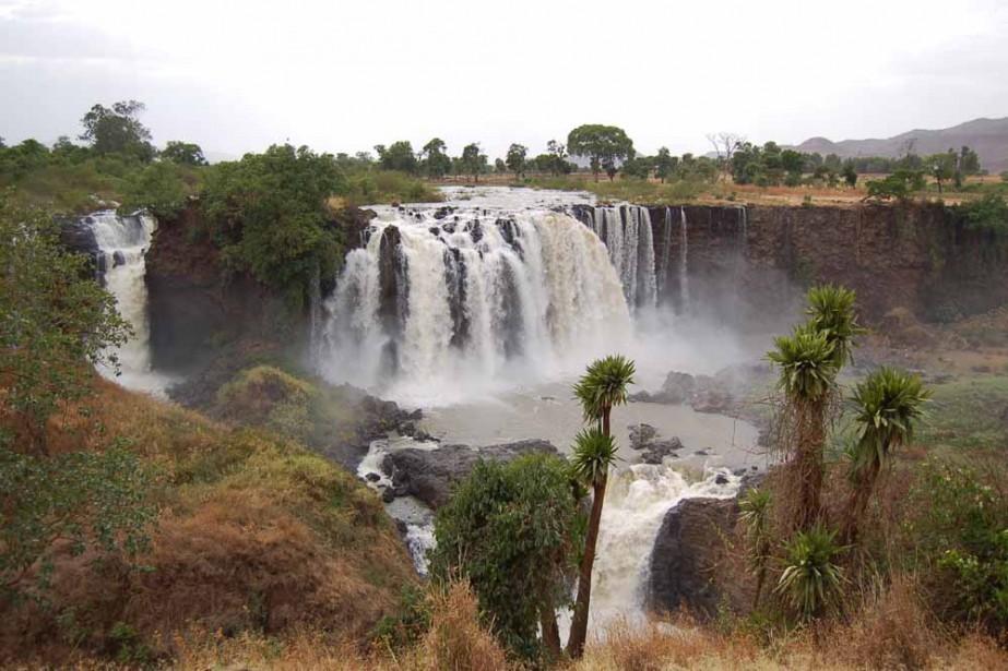 Les chutes du Nil Bleu, appelées Tis Issat... (Photo: Mireille Jeanjean, collaboration spéciale)