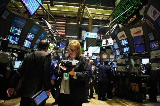 La Bourse de New York a fini en hausse vendredi, la vague... (Photo: Bloomberg)