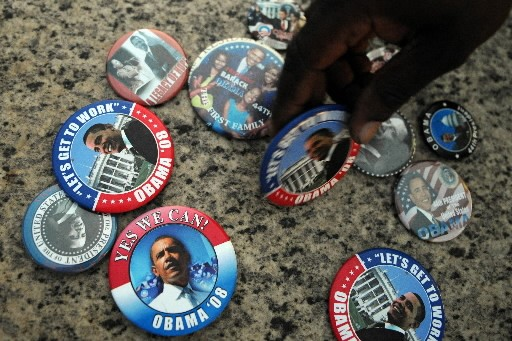 Des macarons à l'effigie du président Barack Obama... (Photo: AFP)