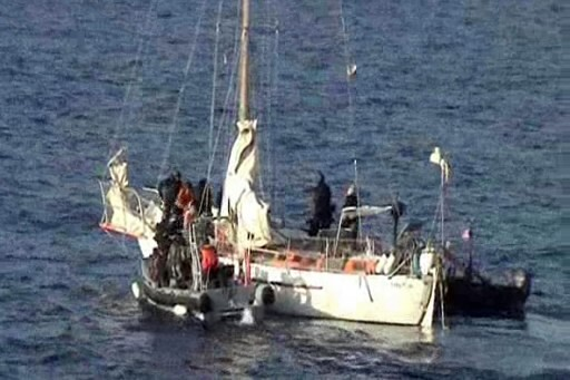 Le voilier Tanit... (Photo: AFP)