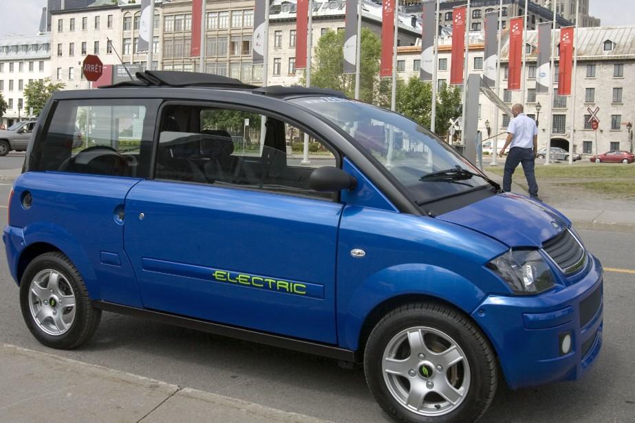 La ZENN, une voiture électrique à basse vitesse... (Photo: Alain Roberge, Archives La Presse)