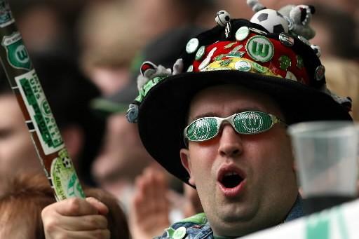 Un partisan de Wolfsburg.... (Photo: AFP)