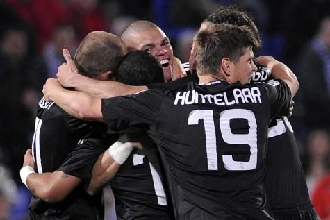 Le Real Madrid vainqueur de Huelva.... (Photo: AFP)