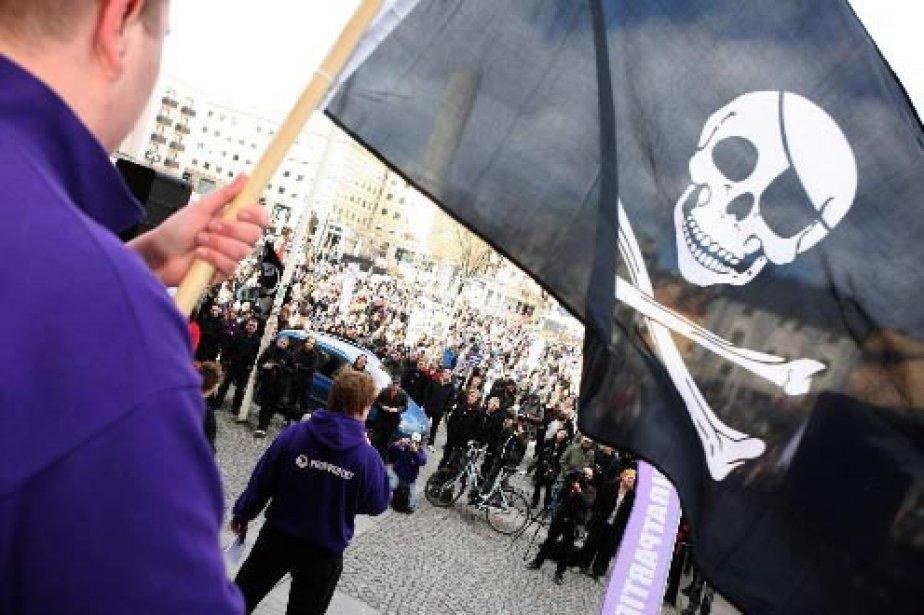 Une manifestation à Stockholm pour soutenir The Pirate... (Photo: AP)