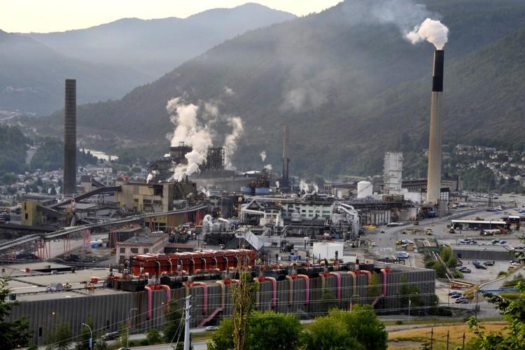 Une usine de  Teck  Cominco à... (Photo: Bloomberg)