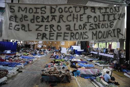 Le gymnase de l'Université libre de Bruxelles (ULB)... (Photo Dominique Faget, AFP)