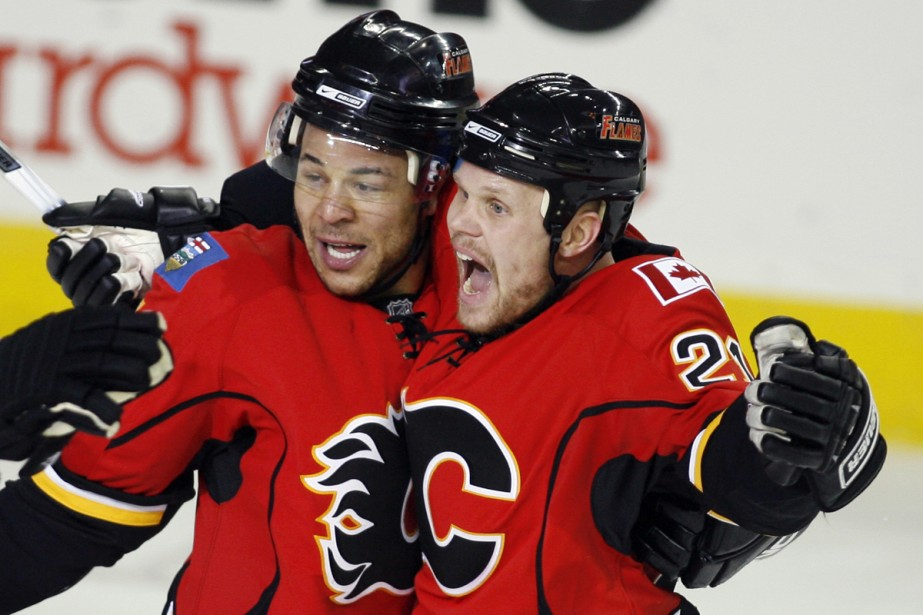 Jarome Iginla et Olli Jokinen... (Photo: PC)
