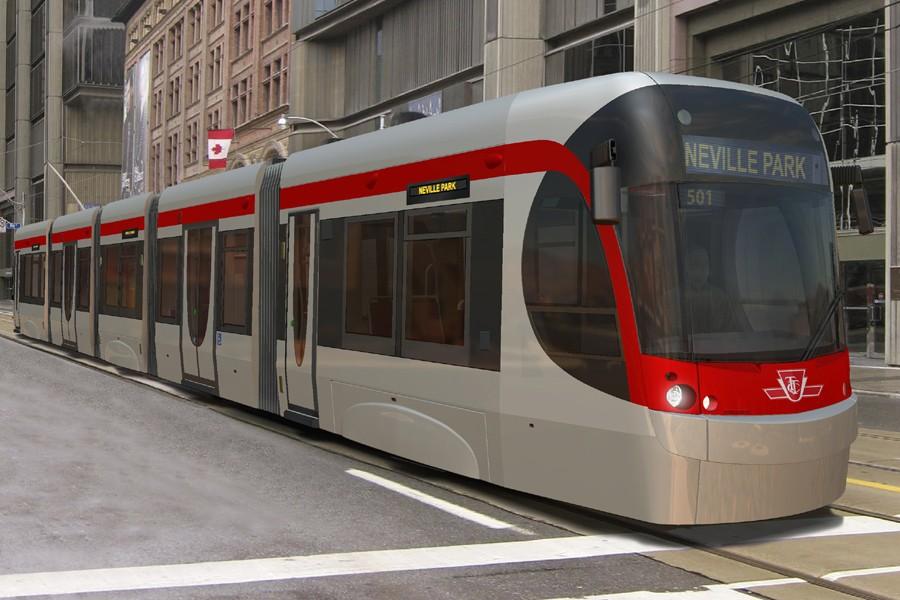 Le tramway conçu par Bombardier pour la Toronto... (Photo: PC)
