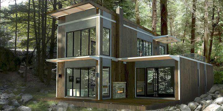Maisons pr fabriqu es le contemporain s 39 installe marie france l ger projets immobiliers for Maison modulaire contemporaine