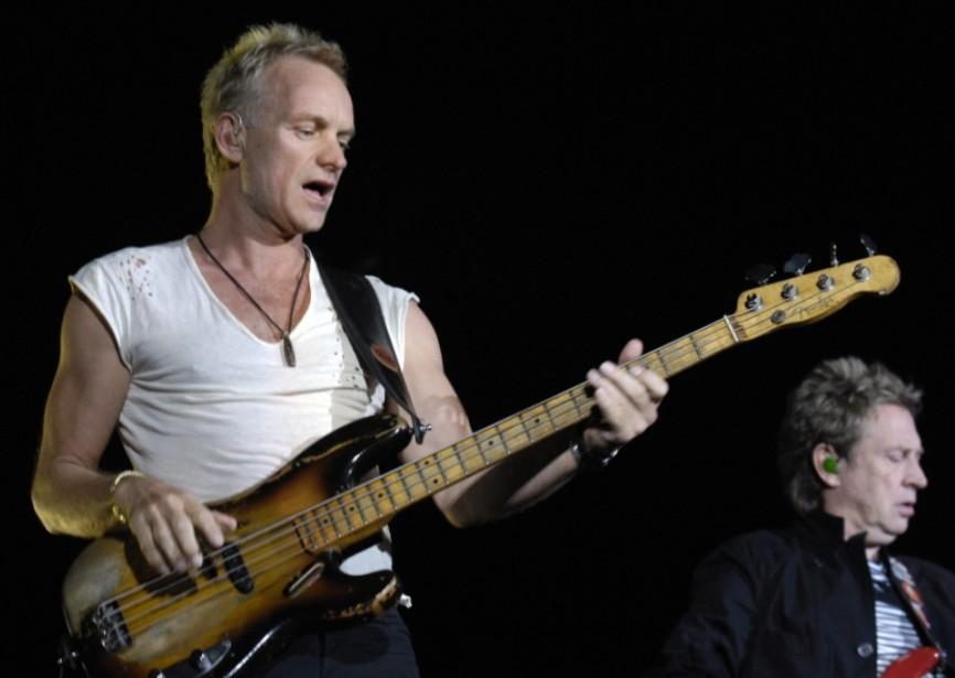 Sting en concert... (Photothèque Le Soleil)