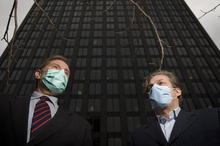 André Leroux, PDG de Noveko, et Alain Bolduc,... (Photo: David Boily, La Presse)