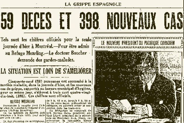 Il y a 91 ans sévissait l'une des pires pandémies de l'histoire humaine: une...