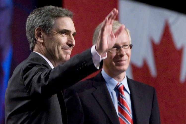 Michael Ignatieff et Stéphane Dion.... (Photo: PC)