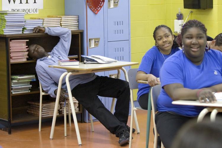 Des étudiants dans une classe spécialisée de l'école... (Photo: Alain Roberge, La Presse)