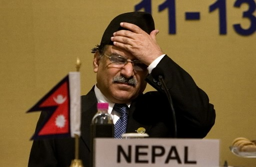 L'ex-chef maoïste Pushpa Kamal Dahal, alias Prachanda... (Photo: AP)