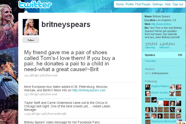 Le compte de Britney Spears fait partie des...