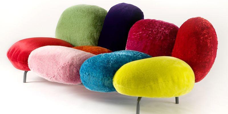 Surprenant , le canapé Cipria s'inspire des houppettes... (Photo fournie par Edra)