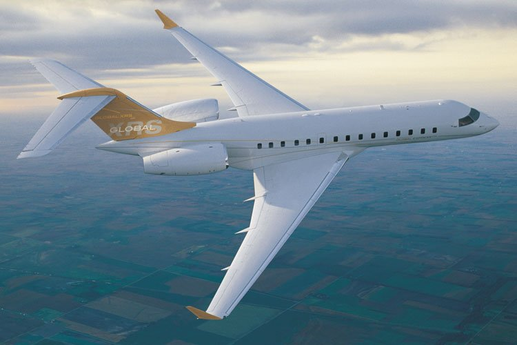 Le biréacteur d'affaires Bombardier Global Express XRS... (Photo: Bombardier)