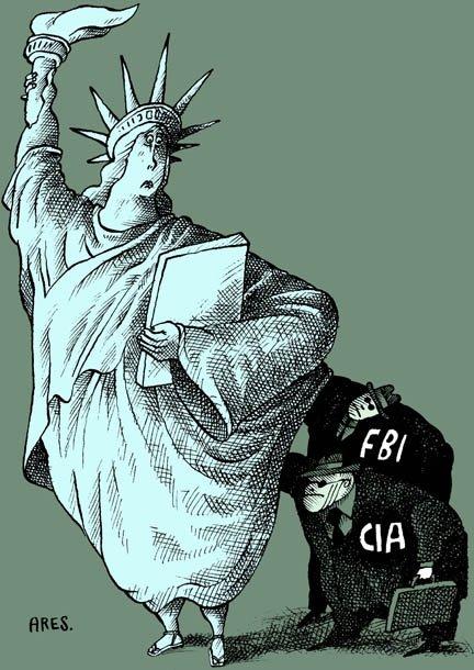 À l'occasion de la journée internationale de la liberté de la presse, nous publions ce dessin d'Ares, de Cuba, qui a mérité le premier prix du neuvième concours international de dessin éditorial organisé par le comité canadien de la liberté de la presse mondiale. Le thème choisi, cette année, était «protection de la vie privée» | 1 mars 2011