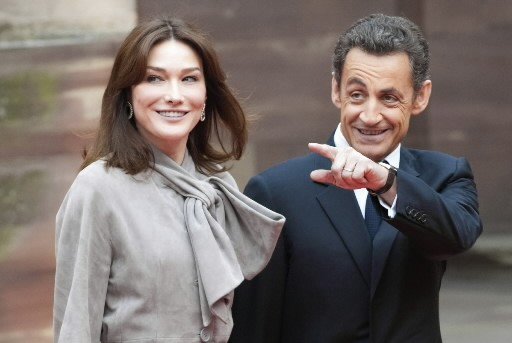 Carla Bruni et Nicolas Sarkozy... (Photo: Reuters)