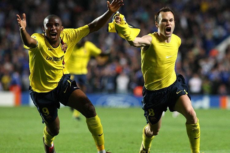 Andres Iniesta (à droite) a marqué dans les... (Photo: AP)